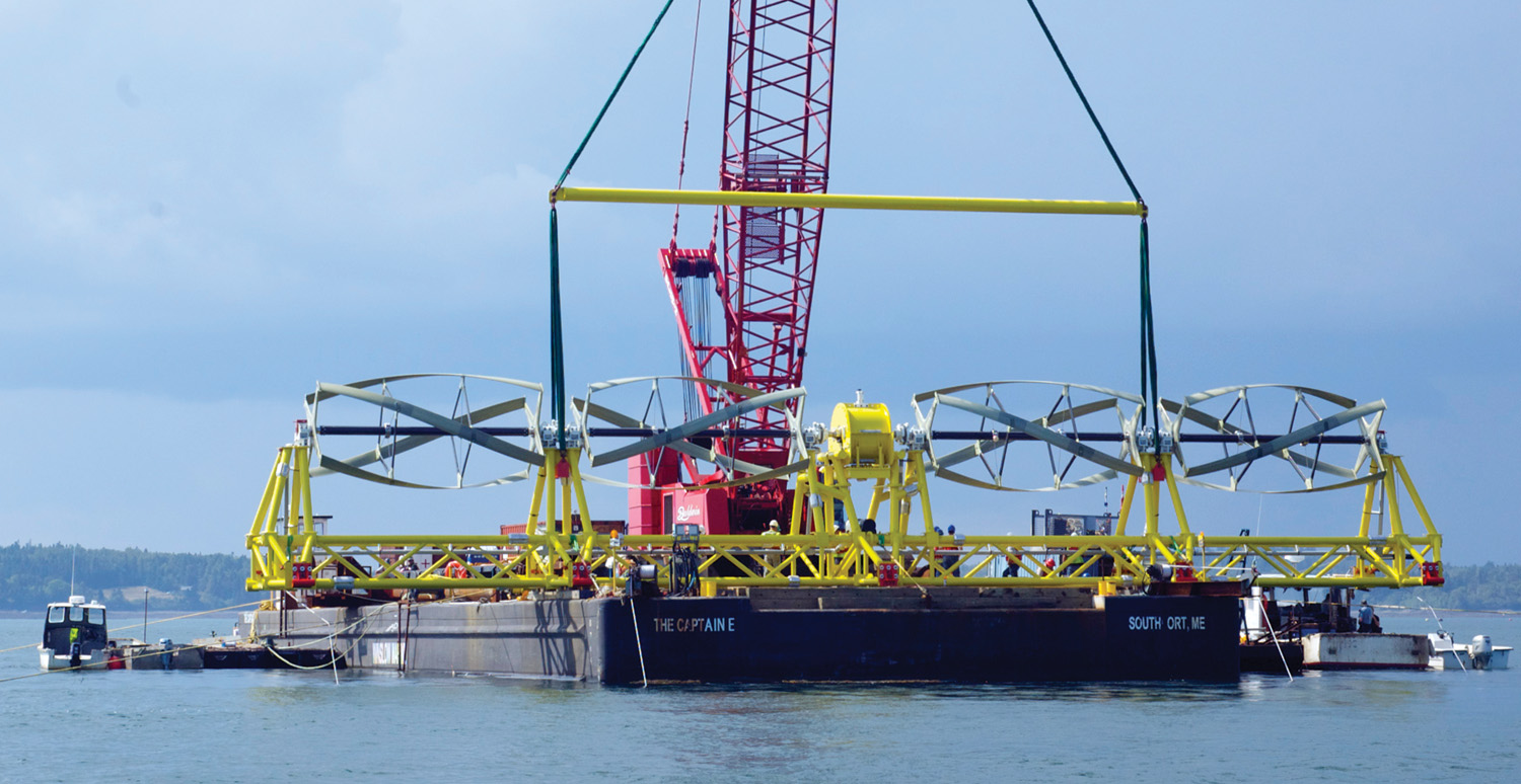 Ocean Renewable Power began delivering electricity to Bangor Hydro from the Cobscook Bay tidal project. ORP says it's the first grid-connected ocean energy project in the United States.