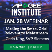 Apogee Institute - SmartGrid to Mainstreet Webinar